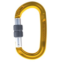 Singing Rock Oxy/Alloy Screw gate Carabiner Gold