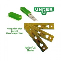 Unger 4in (10cm) Carbon Steel Blades - Pack of 25