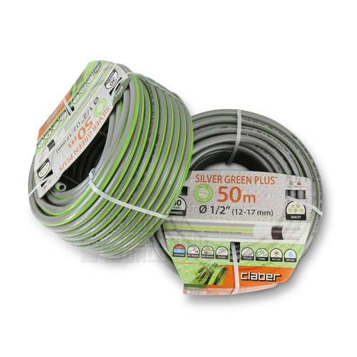 Claber Silver Green Plus 12mm Hose 50m coil