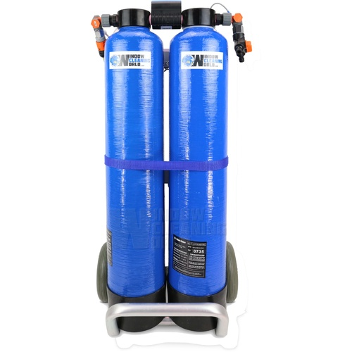 Twin 2 x 19 Ltr DI Trolley Pure Water System